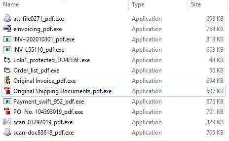 Malicious Executable files