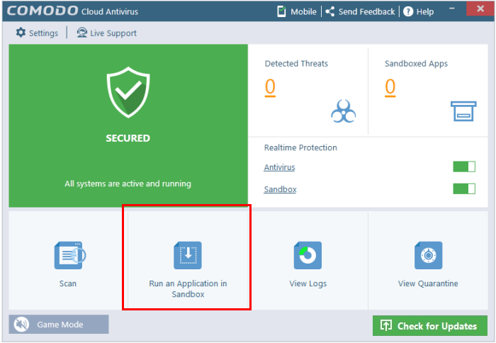 Cloud Based Antivirus Settings
