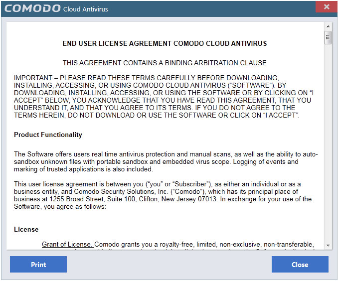 CCAV End user License Agreement